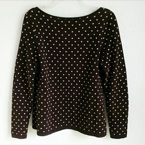 W by Worth Tops - W by WORTH | Polka Dot Boatneck V-Back Cotton Top